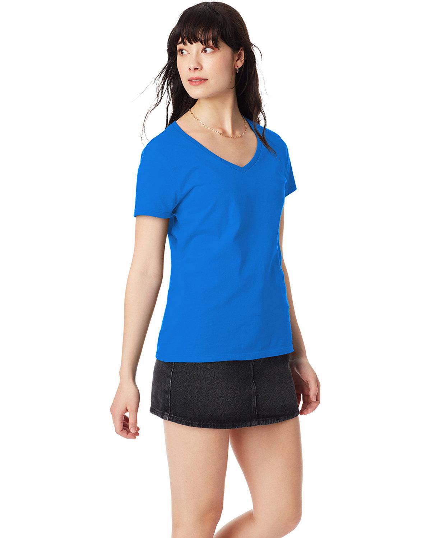 Hanes Ladies' Nano-T® V-Neck T-Shirt BLUEBELL BREEZE