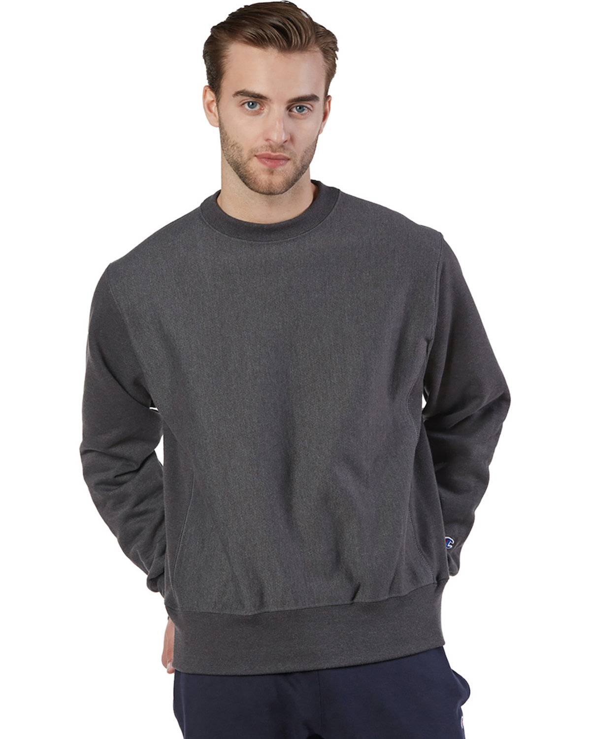 Champion Adult Reverse Weave® Crew CHARCOAL HEATHER