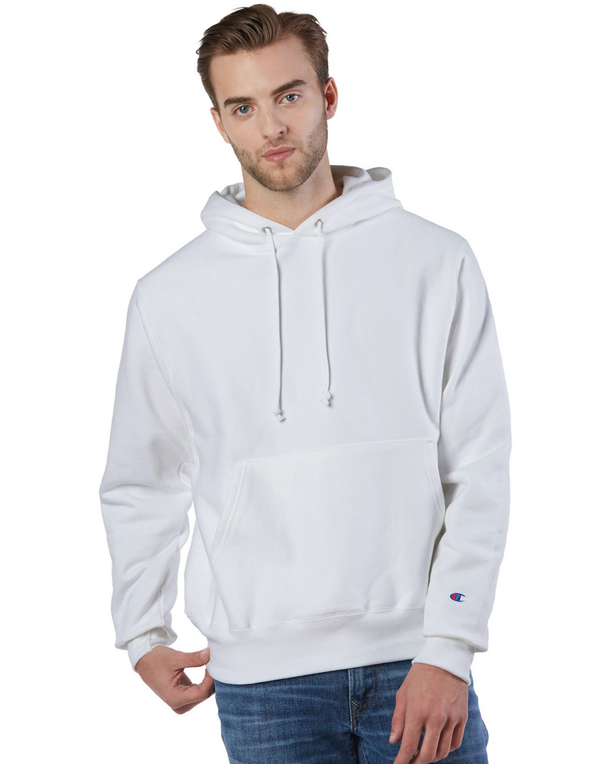 Champion Reverse Weave® Pullover Hooded Sweatshirt WHITE