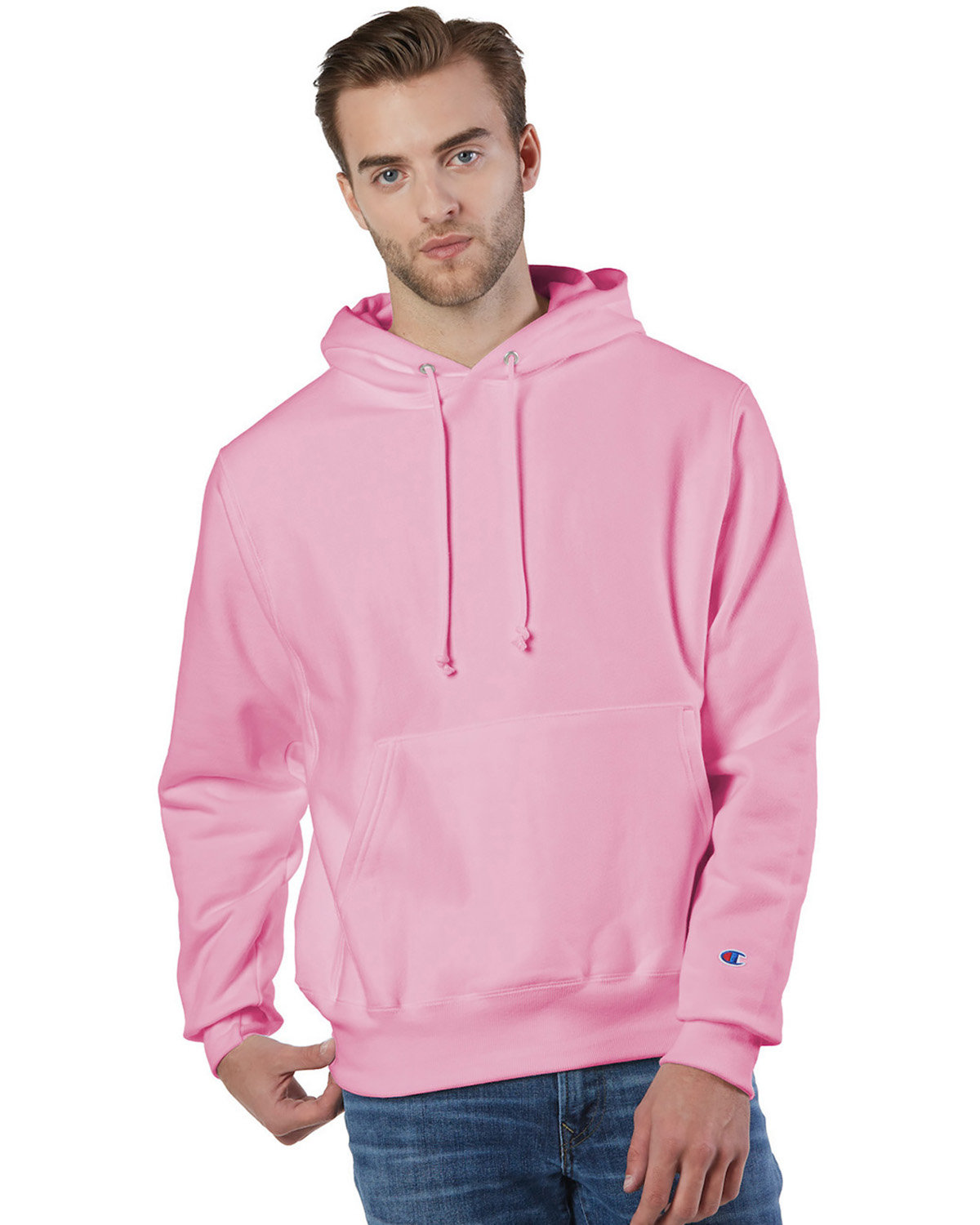 Champion Reverse Weave® Pullover Hooded Sweatshirt PINK CANDY