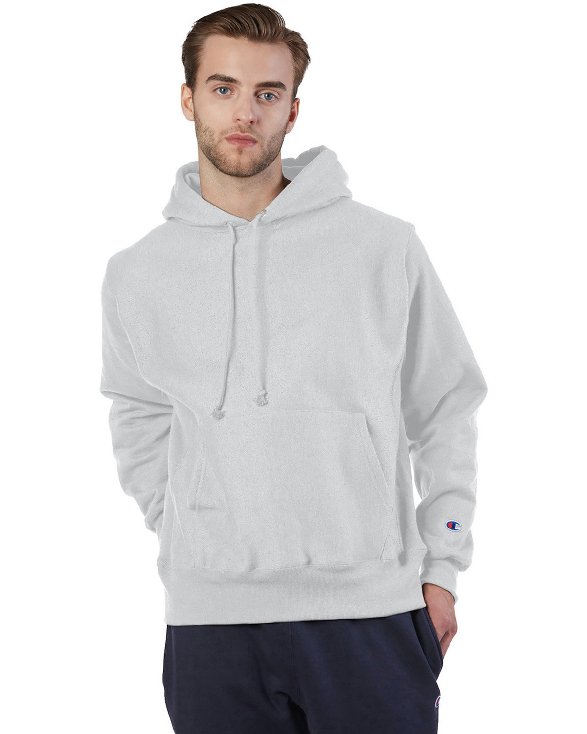 Champion Reverse Weave® Pullover Hooded Sweatshirt SILVER GRAY