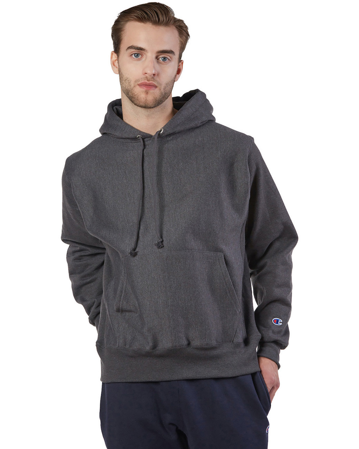 Champion Reverse Weave® Pullover Hooded Sweatshirt CHARCOAL HEATHER