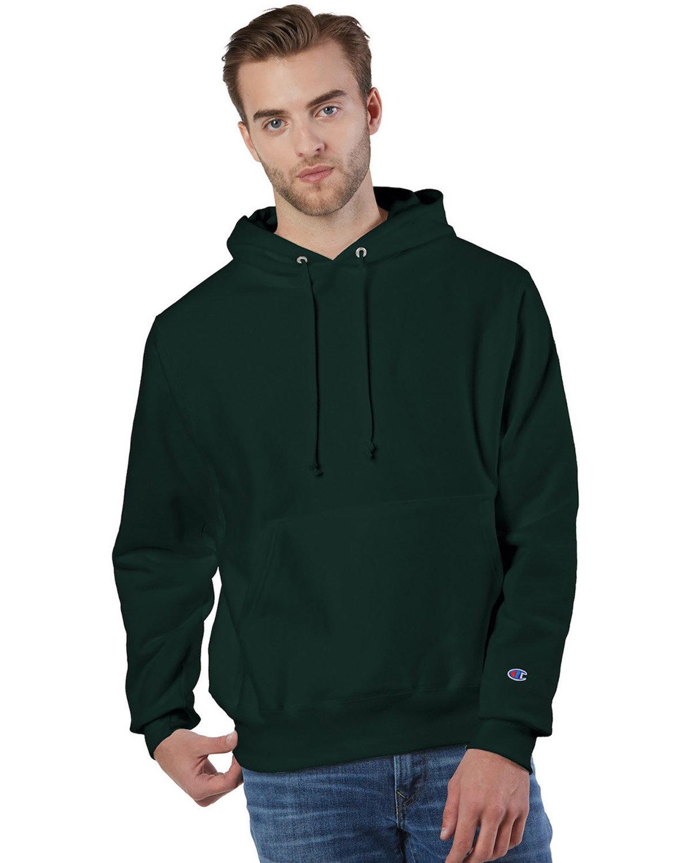 Champion Reverse Weave® Pullover Hooded Sweatshirt DARK GREEN