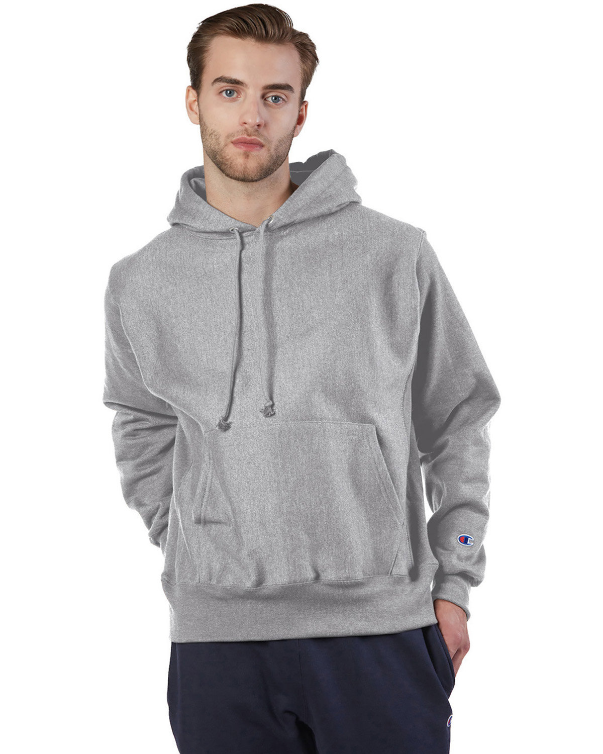 Champion Reverse Weave® Pullover Hooded Sweatshirt OXFORD GRAY