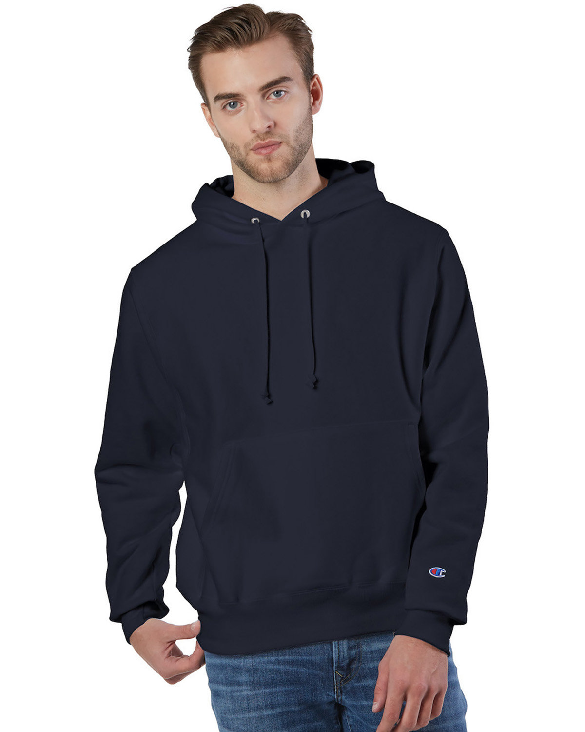 Champion Reverse Weave® Pullover Hooded Sweatshirt NAVY