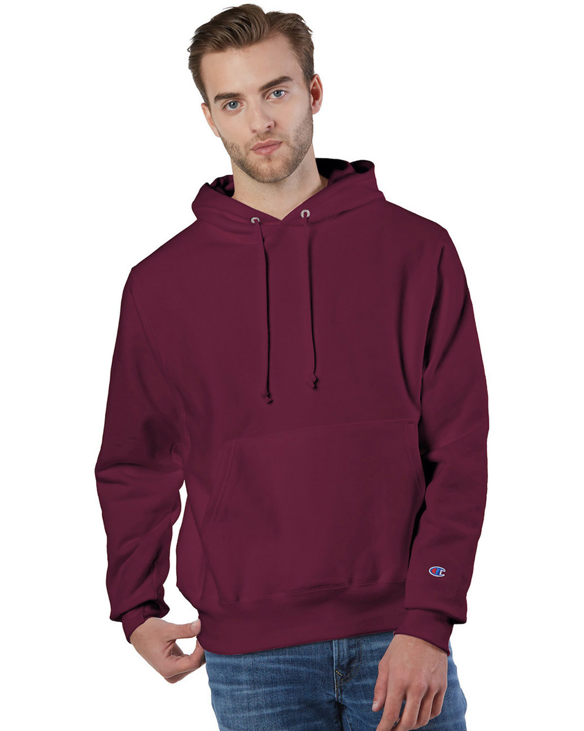 Champion Reverse Weave® Pullover Hooded Sweatshirt CARDINAL
