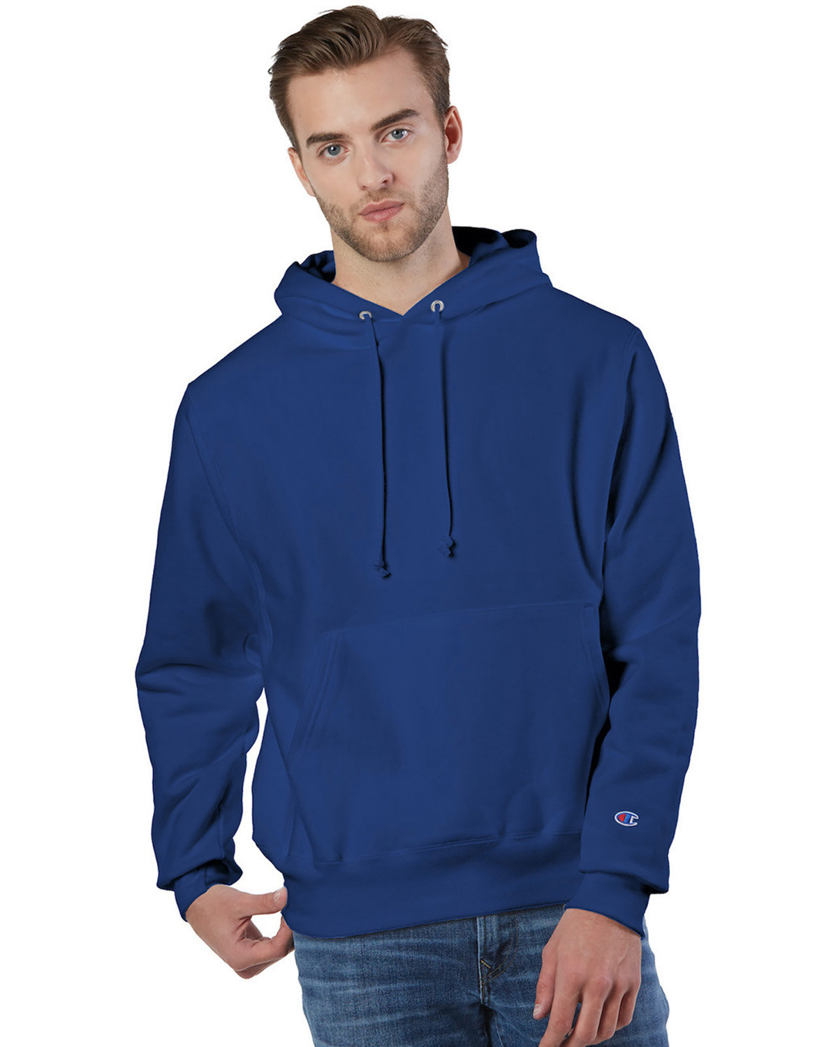Champion Reverse Weave® Pullover Hooded Sweatshirt ATHLETIC ROYAL