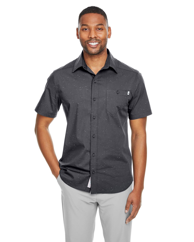 Spyder Men's Stryke Woven Short-Sleeve Shirt BLACK