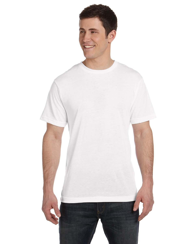 Sublivie Men's Sublimation T-Shirt WHITE