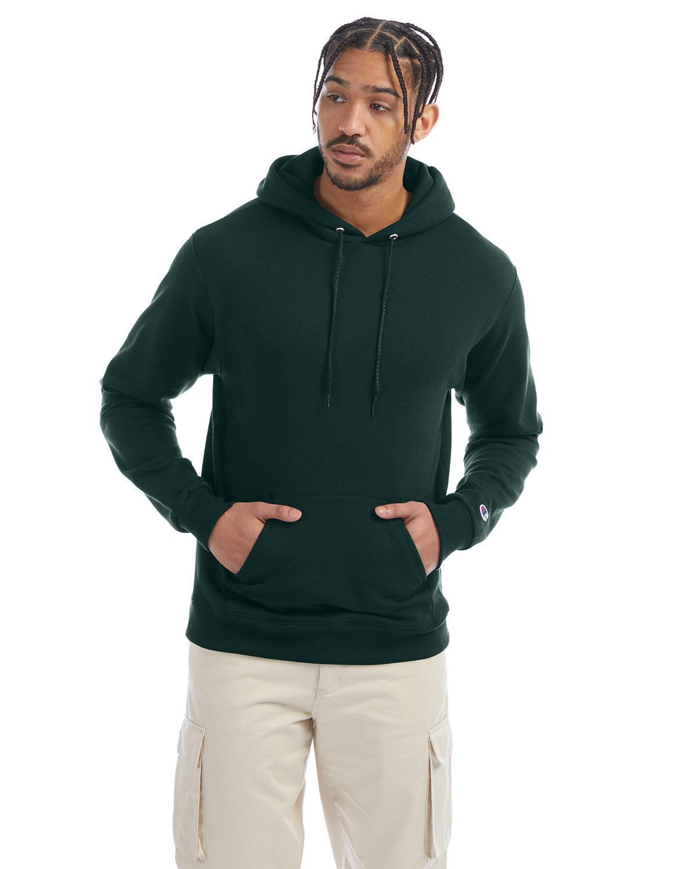 Champion Adult Double Dry Eco® Pullover Hooded Sweatshirt DARK GREEN