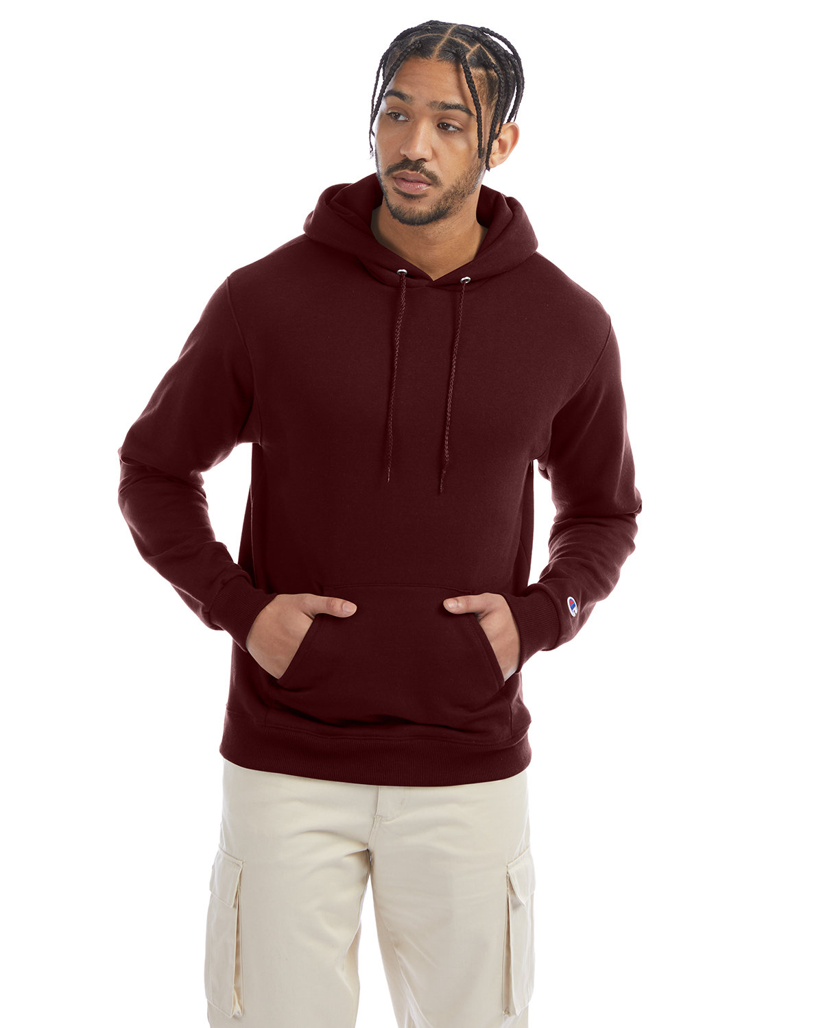 Champion Adult Double Dry Eco® Pullover Hooded Sweatshirt MAROON
