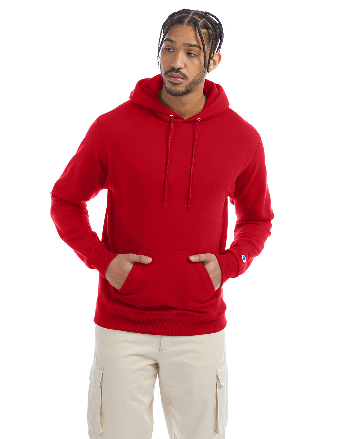 Champion Adult Double Dry Eco® Pullover Hooded Sweatshirt SCARLET