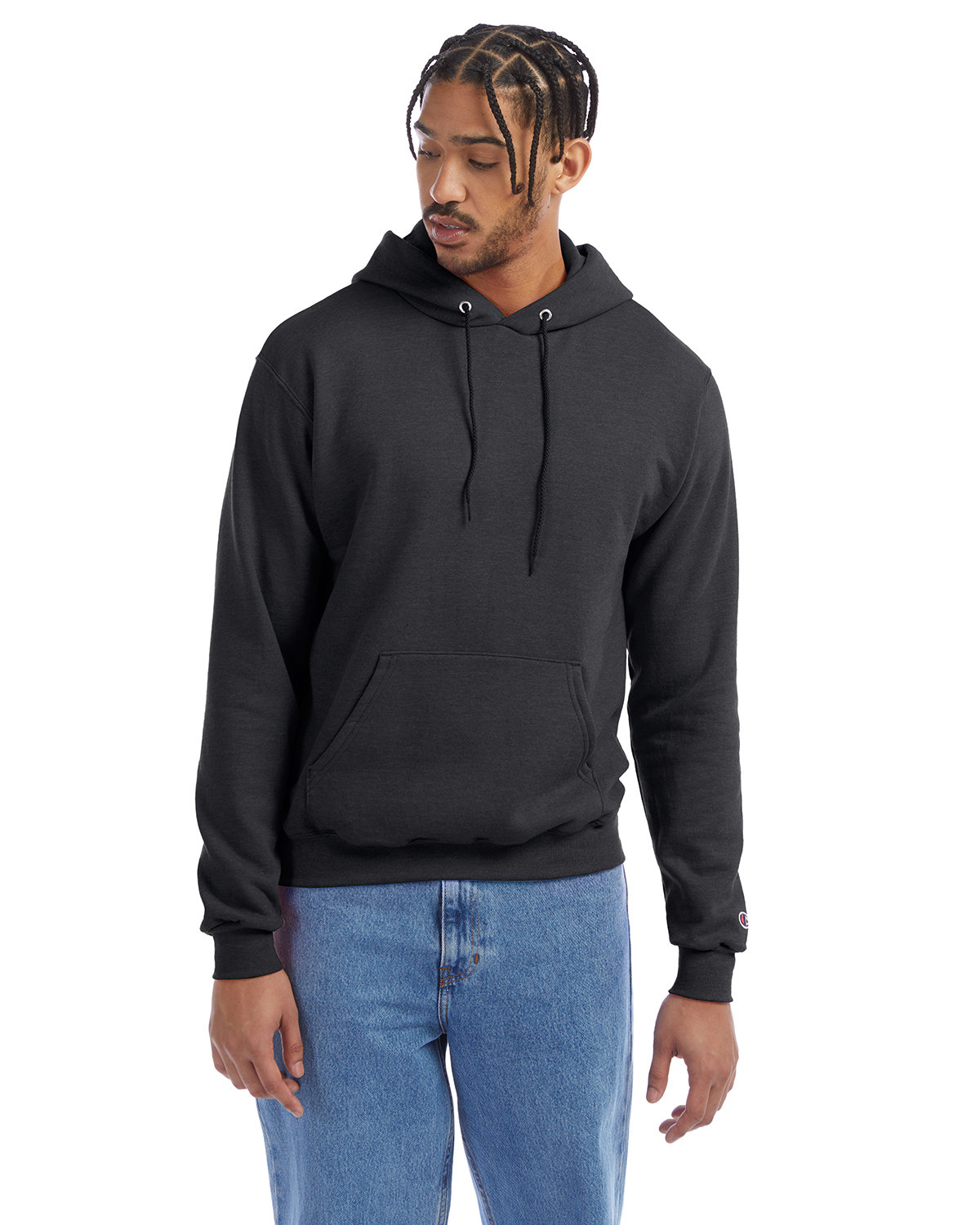 Champion Adult Double Dry Eco® Pullover Hooded Sweatshirt CHARCOAL HEATHER