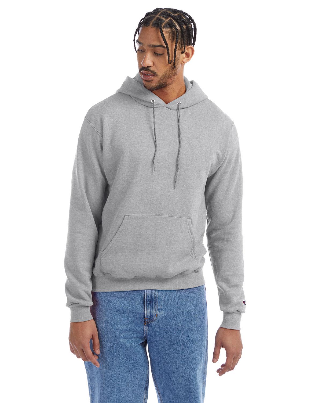 Champion Adult Double Dry Eco® Pullover Hooded Sweatshirt LIGHT STEEL