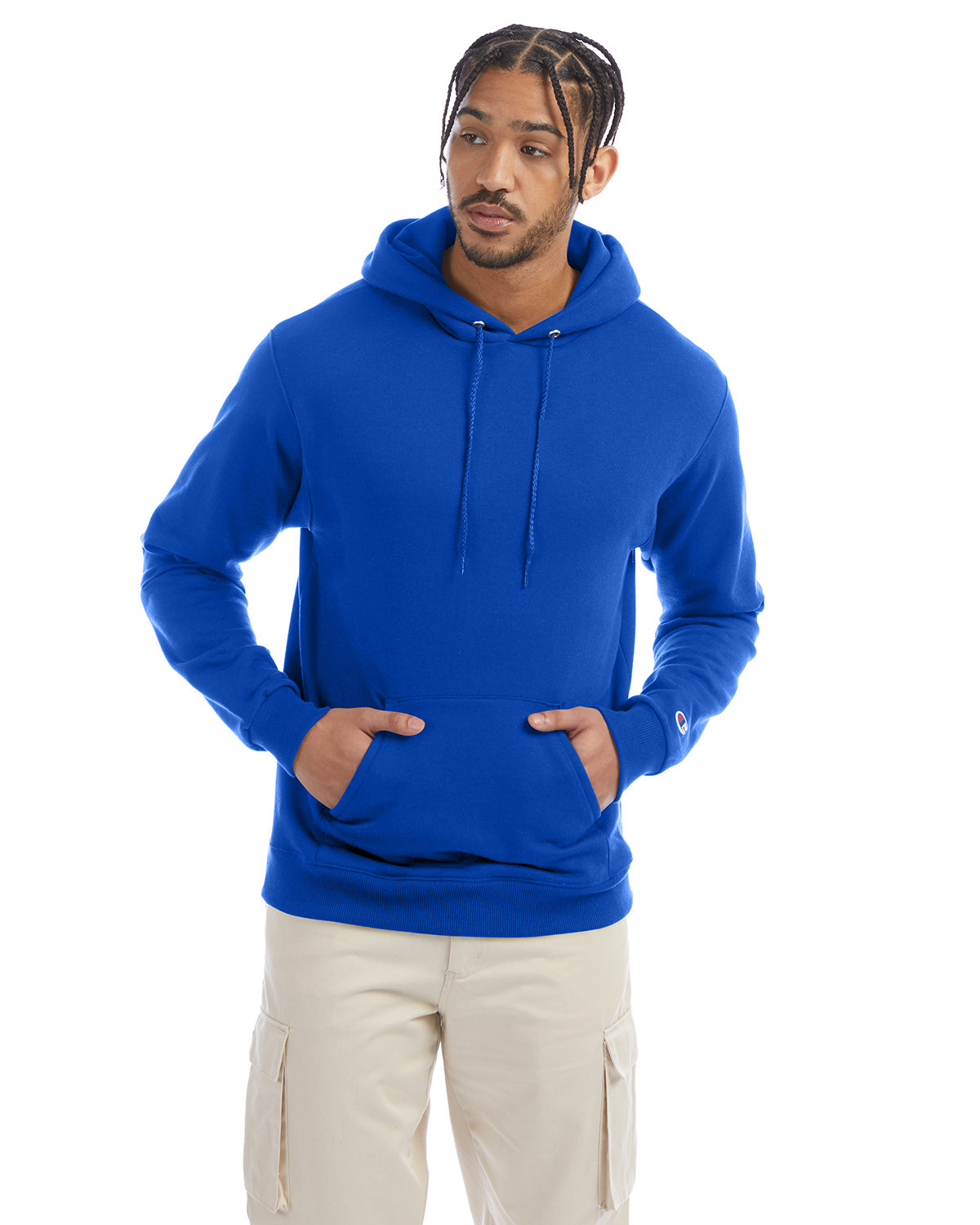 Champion Adult Double Dry Eco® Pullover Hooded Sweatshirt ROYAL BLUE