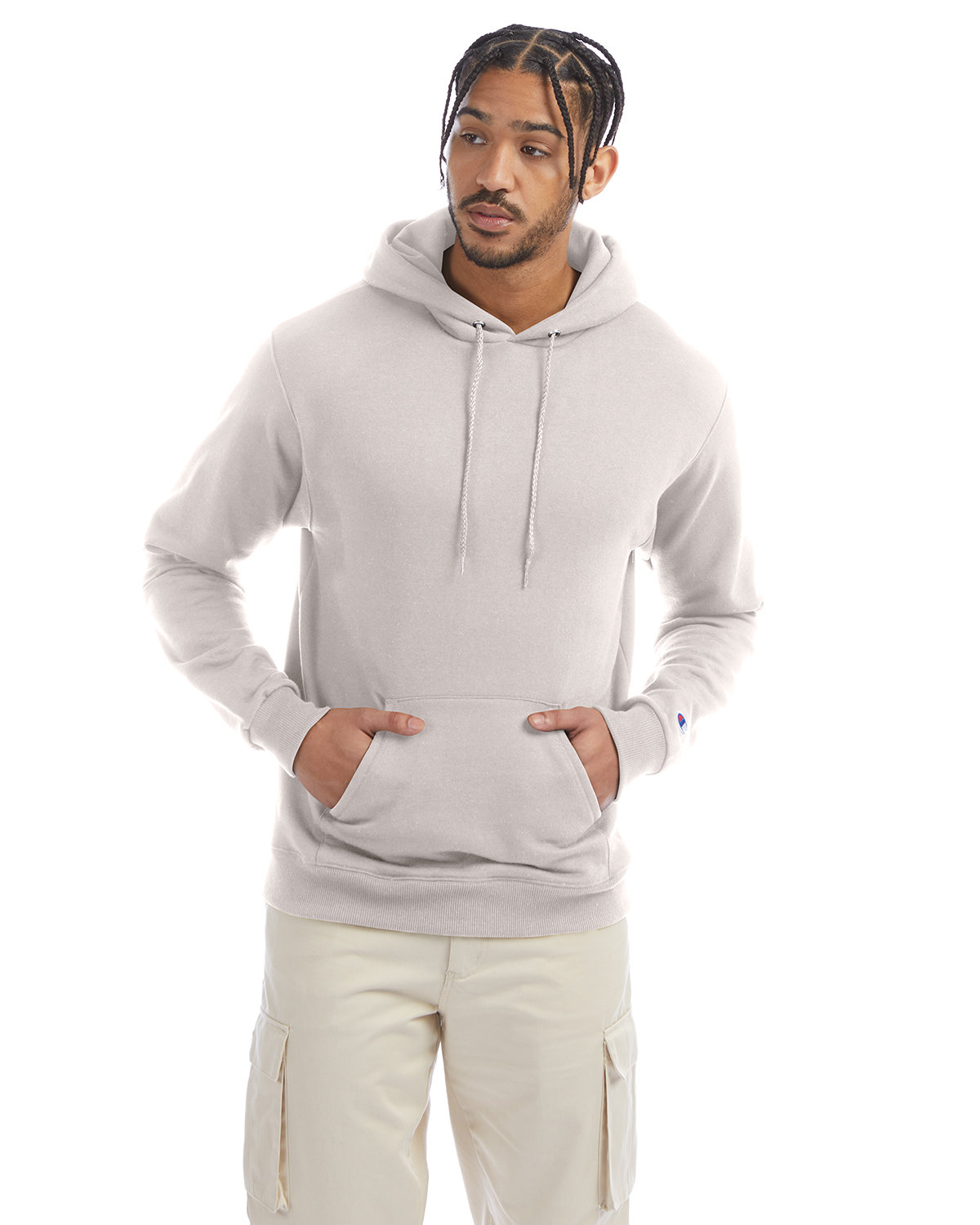 Champion Adult Double Dry Eco® Pullover Hooded Sweatshirt BODY BLUSH