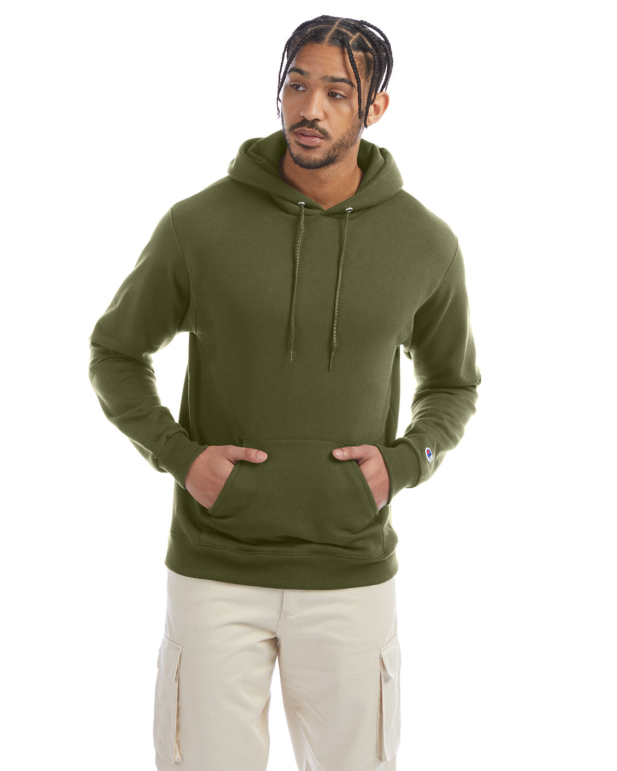 Champion Adult Double Dry Eco® Pullover Hooded Sweatshirt FRESH OLIVE