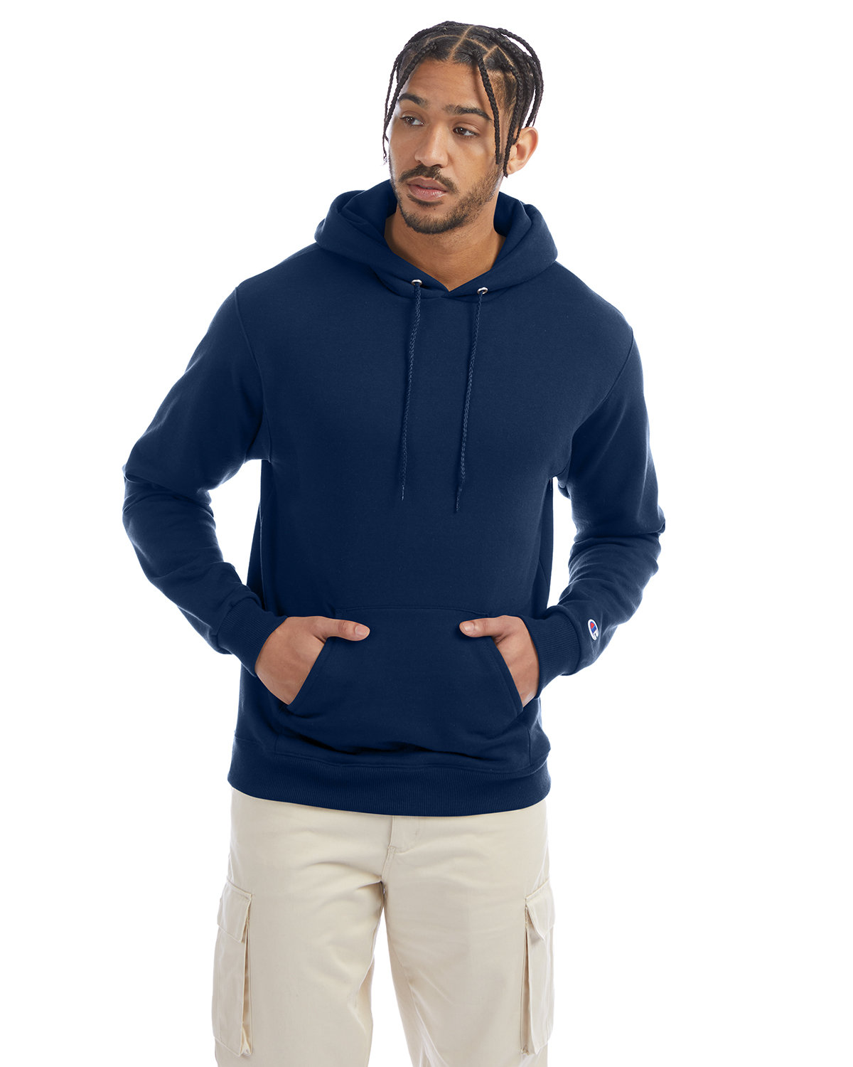 Champion Adult Double Dry Eco® Pullover Hooded Sweatshirt LATE NIGHT BLUE