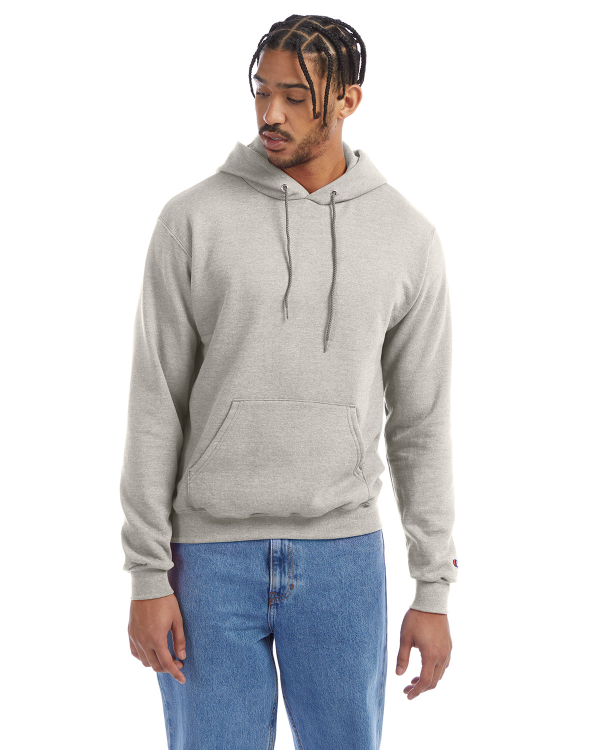 Champion Adult Double Dry Eco® Pullover Hooded Sweatshirt OATMEAL HEATHER