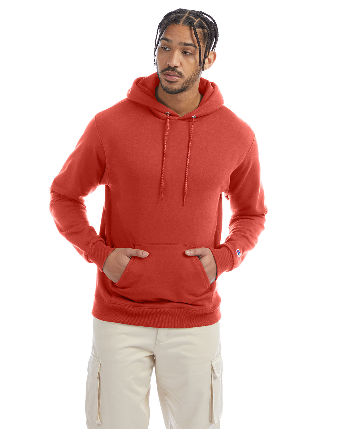 Champion Adult Double Dry Eco® Pullover Hooded Sweatshirt RED RIVER CLAY