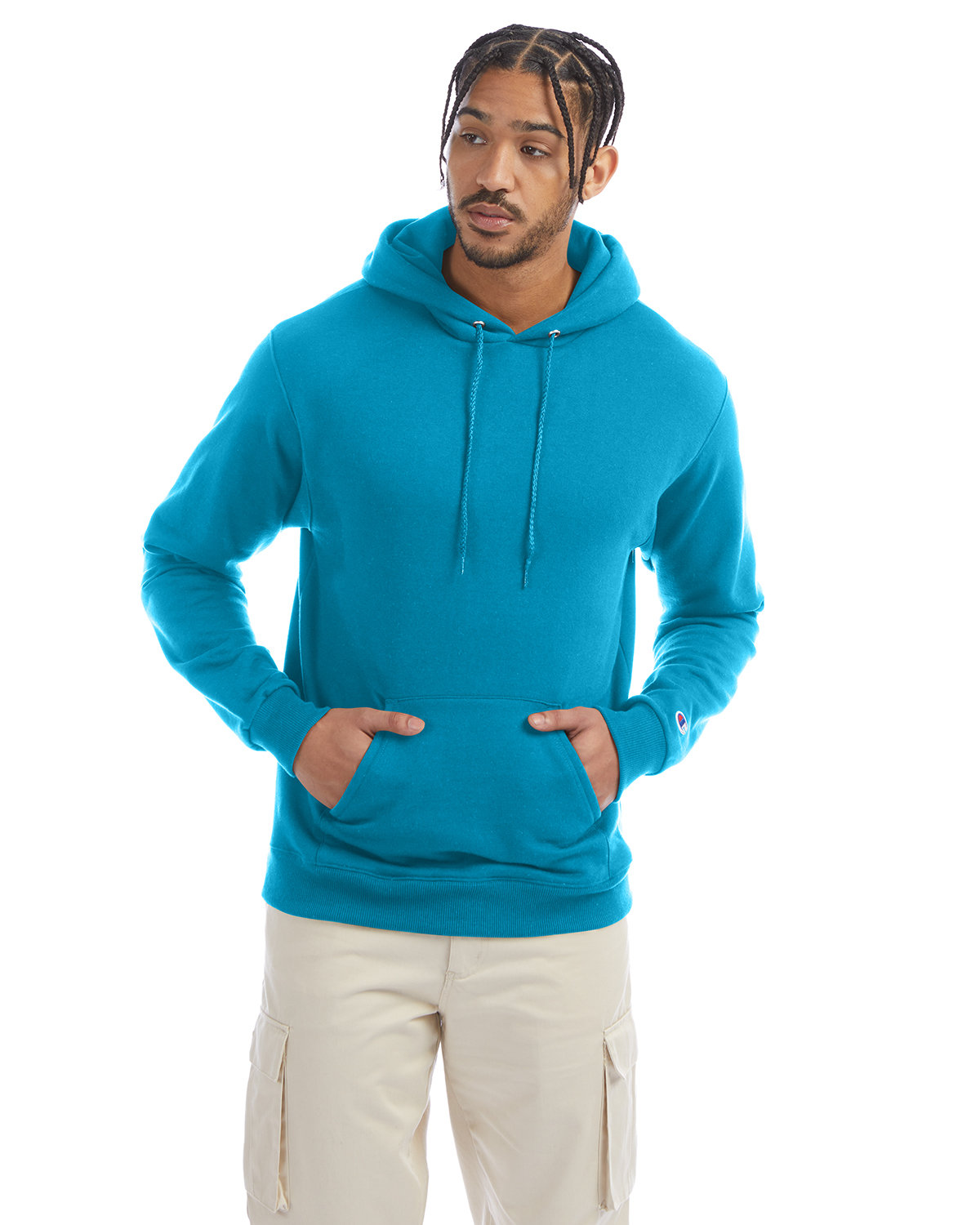 Champion Adult Double Dry Eco® Pullover Hooded Sweatshirt TEMPO TEAL