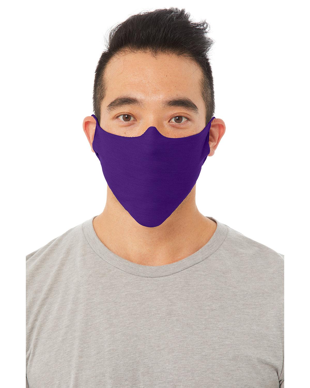 Bella + Canvas Adult Lightweight Cotton Face Mask TEAM PURPLE
