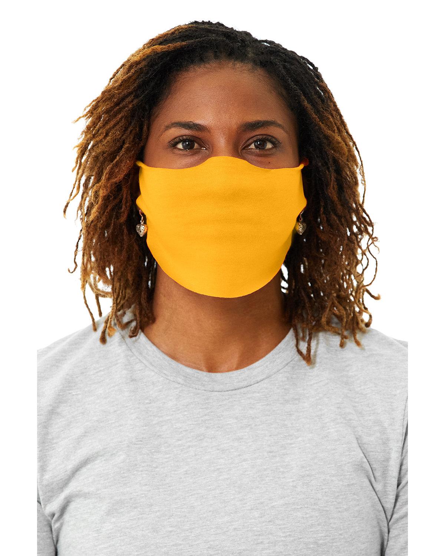 Bella + Canvas Adult Lightweight Cotton Face Mask GOLD