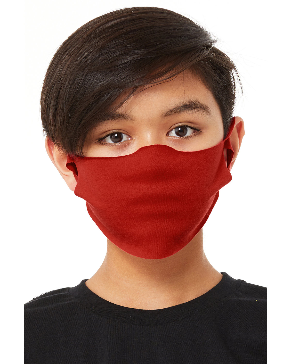 Bella + Canvas Youth Lightweight Fabric Face Mask RED