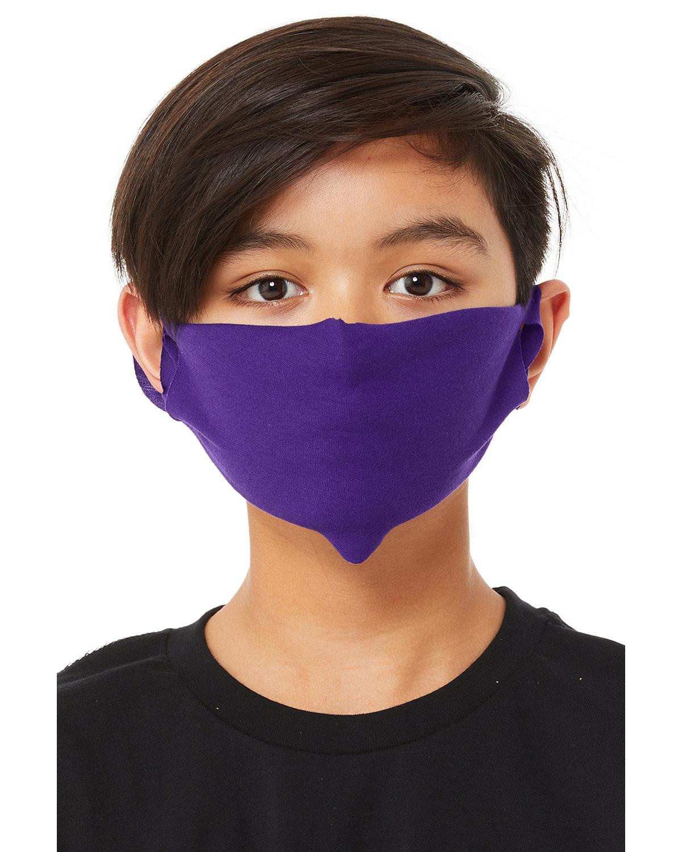 Bella + Canvas Youth Lightweight Fabric Face Mask TEAM PURPLE