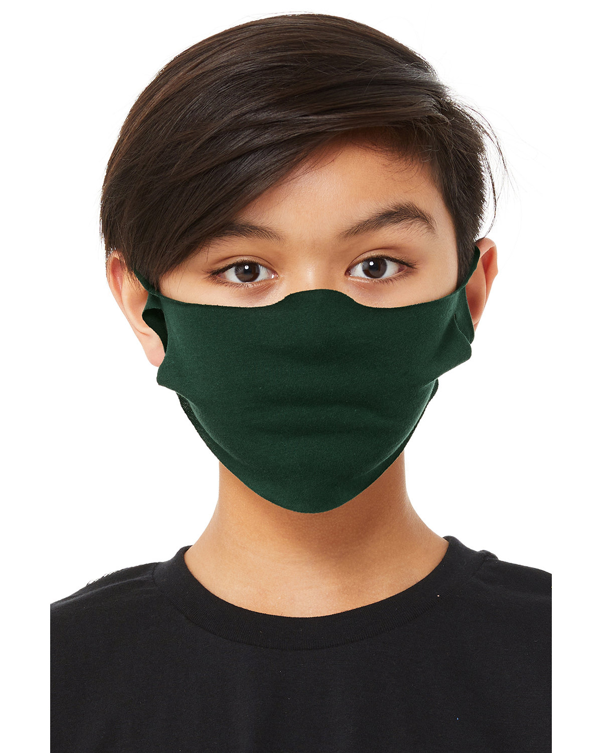Bella + Canvas Youth Lightweight Fabric Face Mask FOREST