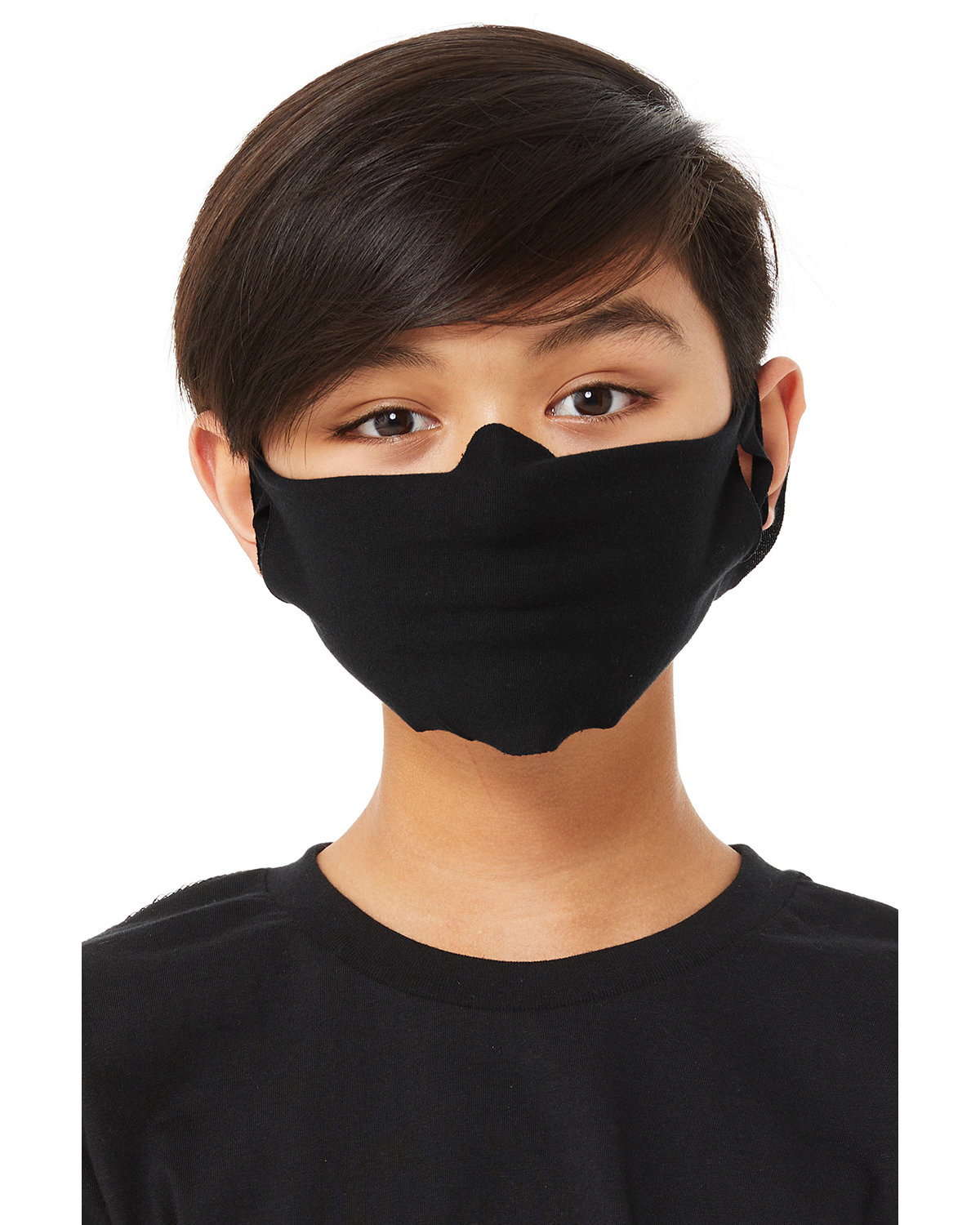 Bella + Canvas Youth Lightweight Fabric Face Mask BLACK