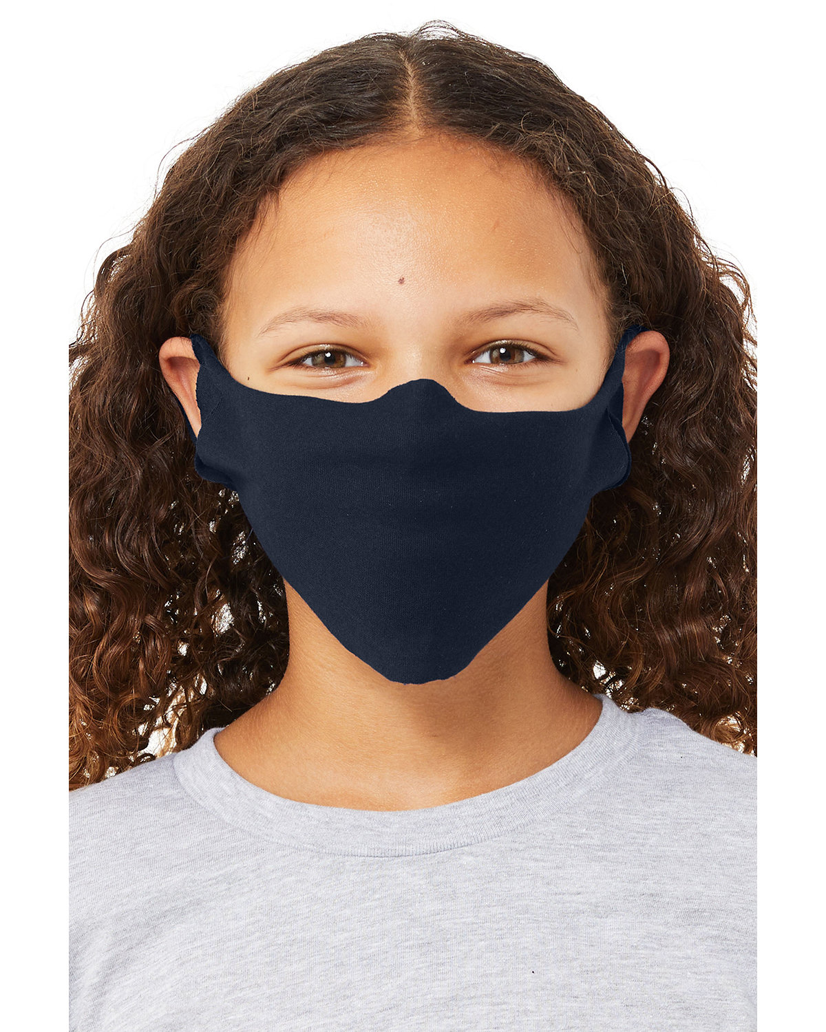 Bella + Canvas Youth Lightweight Fabric Face Mask NAVY