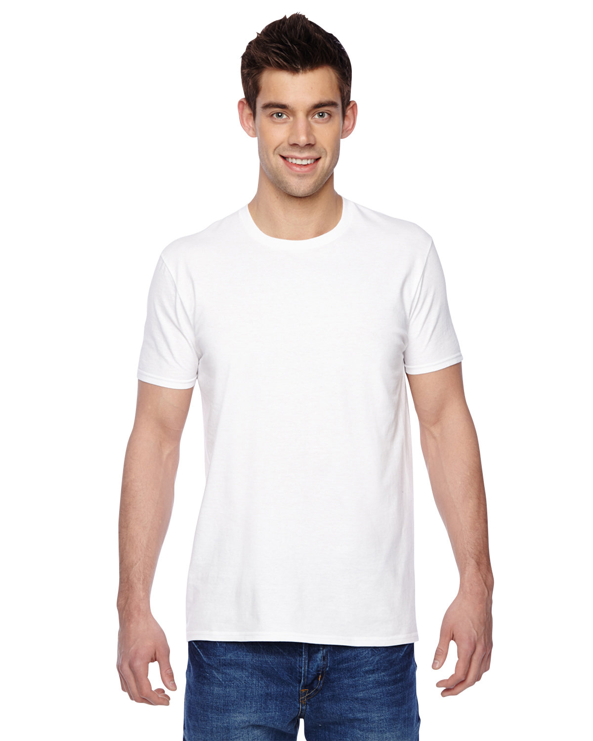 Fruit of the Loom Adult Sofspun® Jersey Crew T-Shirt WHITE
