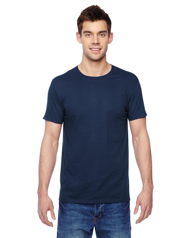 Fruit of the Loom Adult Sofspun® Jersey Crew T-Shirt J NAVY