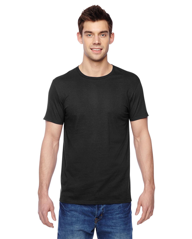 Fruit of the Loom Adult Sofspun® Jersey Crew T-Shirt BLACK