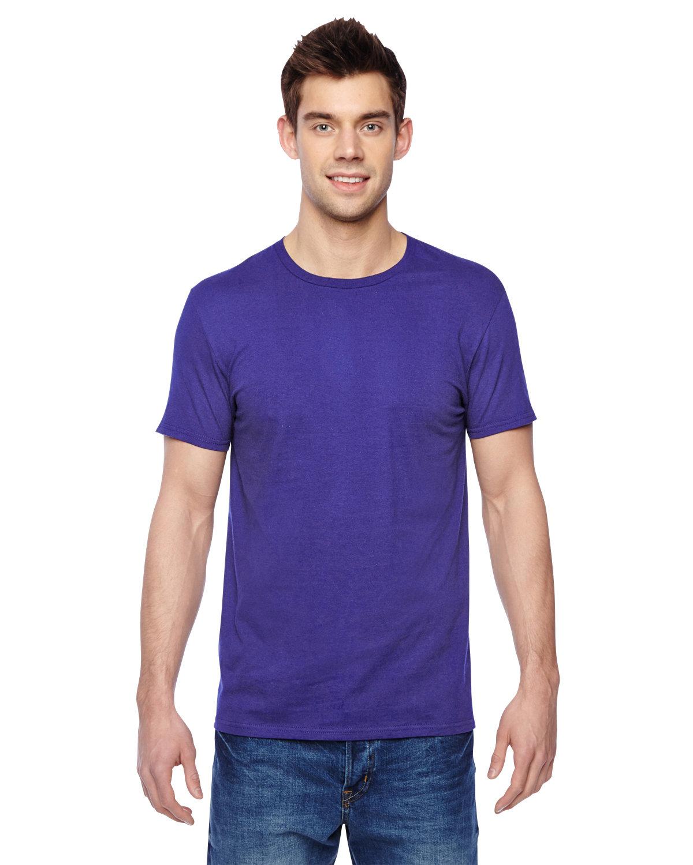 Fruit of the Loom Adult Sofspun® Jersey Crew T-Shirt PURPLE