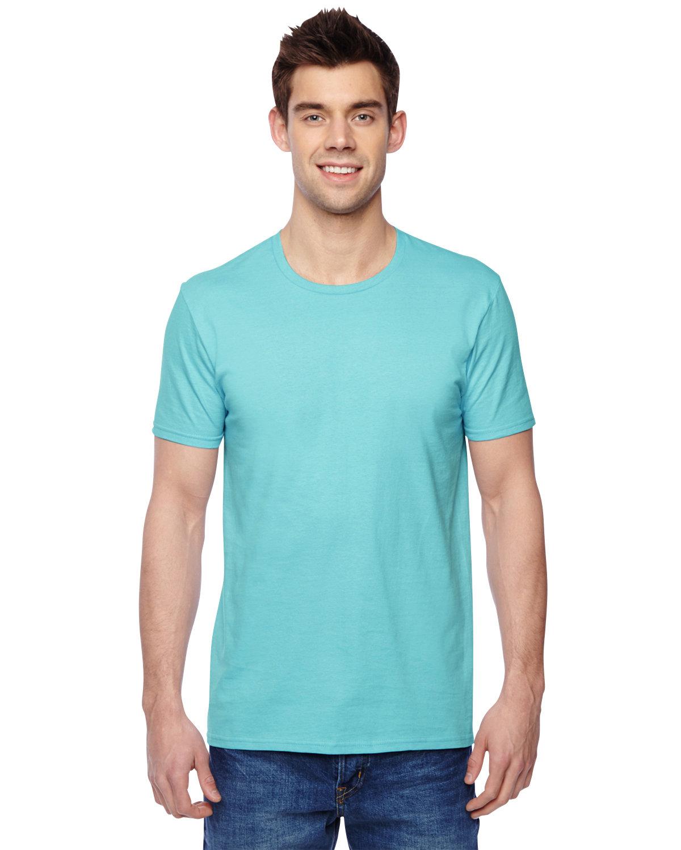 Fruit of the Loom Adult Sofspun® Jersey Crew T-Shirt SCUBA BLUE