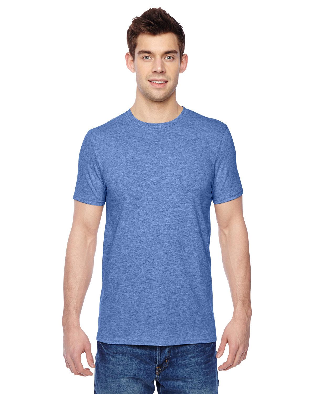 Fruit of the Loom Adult Sofspun® Jersey Crew T-Shirt CAROLINA HEATHER