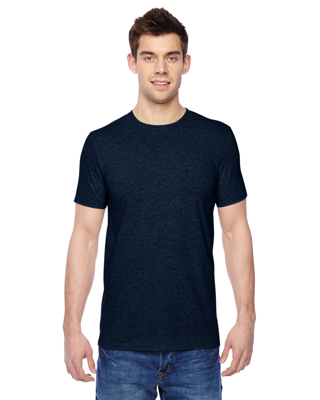 Fruit of the Loom Adult Sofspun® Jersey Crew T-Shirt INDIGO HEATHER
