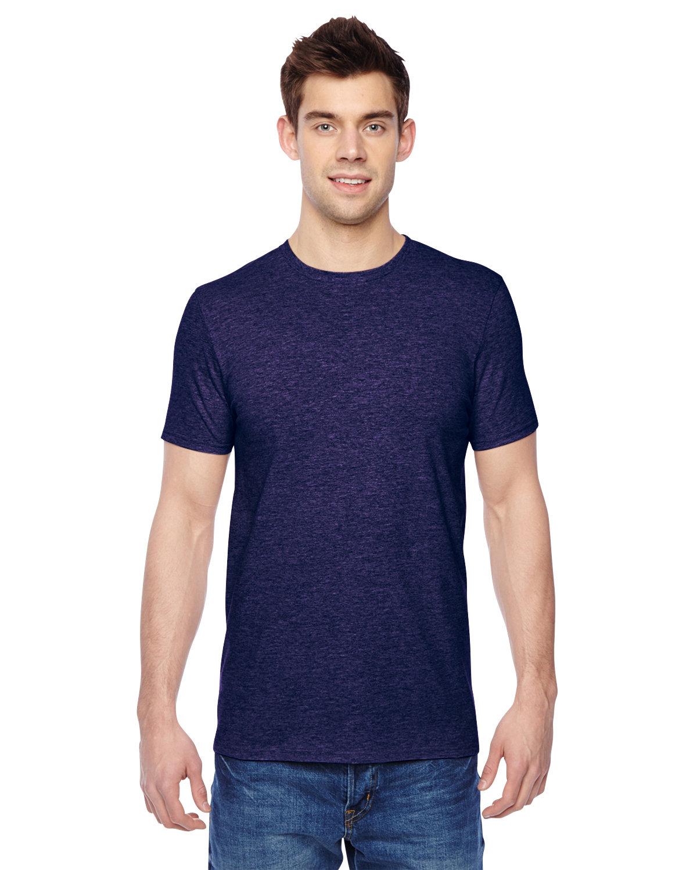 Fruit of the Loom Adult Sofspun® Jersey Crew T-Shirt HEATHER GRAPE