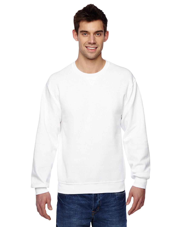 Fruit of the Loom Adult SofSpun® Crewneck Sweatshirt WHITE