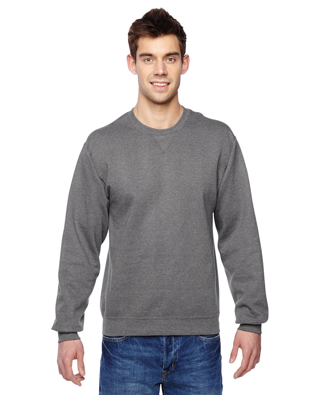 Fruit of the Loom Adult SofSpun® Crewneck Sweatshirt CHARCOAL HEATHER