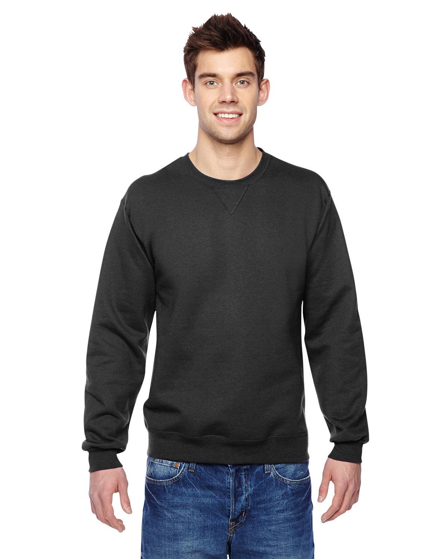 Fruit of the Loom Adult SofSpun® Crewneck Sweatshirt BLACK