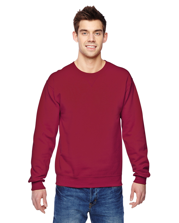 Fruit of the Loom Adult SofSpun® Crewneck Sweatshirt CARDINAL