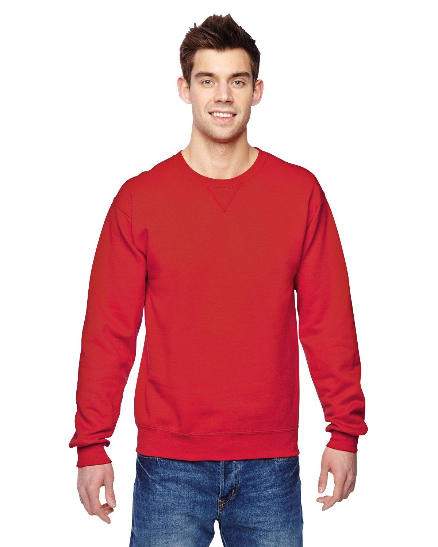 Fruit of the Loom Adult SofSpun® Crewneck Sweatshirt FIERY RED