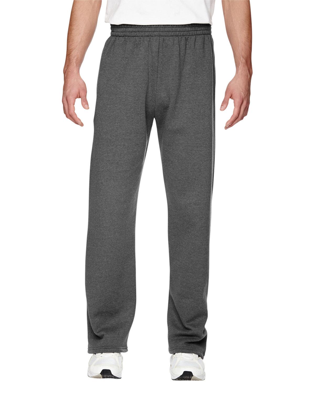 Fruit of the Loom Adult SofSpun® Open-Bottom Pocket Sweatpants CHARCOAL HEATHER