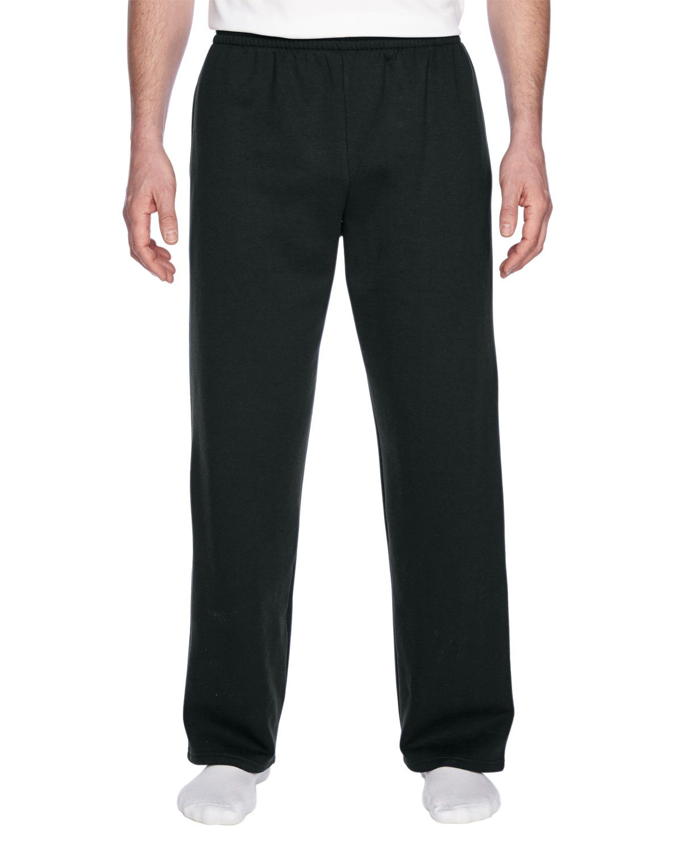 Fruit of the Loom Adult SofSpun® Open-Bottom Pocket Sweatpants BLACK