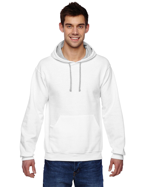 Fruit of the Loom Adult SofSpun® Hooded Sweatshirt WHITE