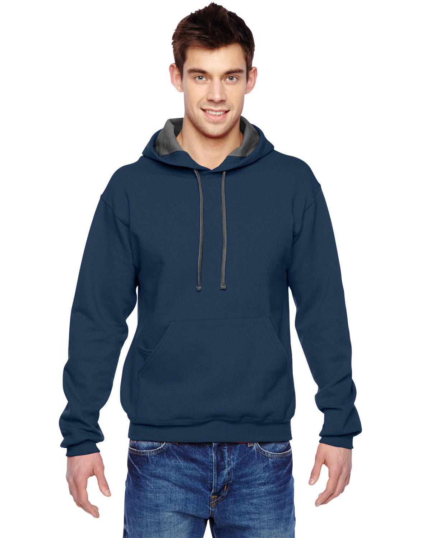 Fruit of the Loom Adult SofSpun® Hooded Sweatshirt J NAVY