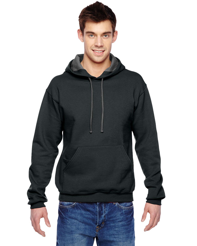Fruit of the Loom Adult SofSpun® Hooded Sweatshirt BLACK